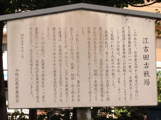 江古田古戦場