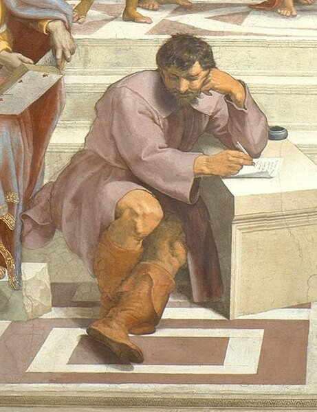 ラファエロ作『アテナイの学堂』(部分)