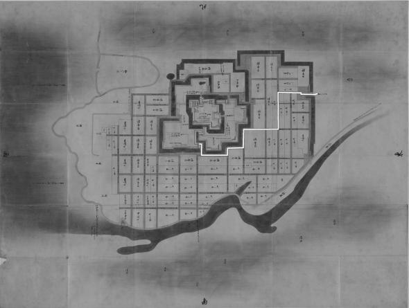正保城絵図 本道可視化 八代