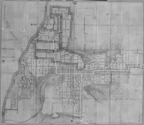 日本古城絵図-筑後久留米城図