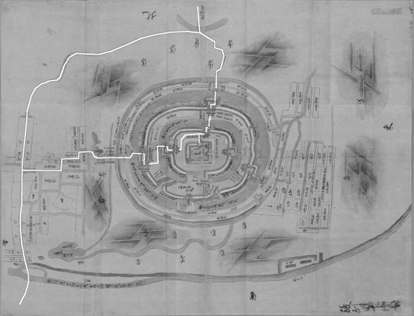日本古城絵図-田中城