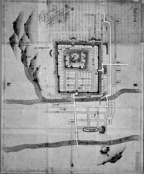 日本古城絵図-松本