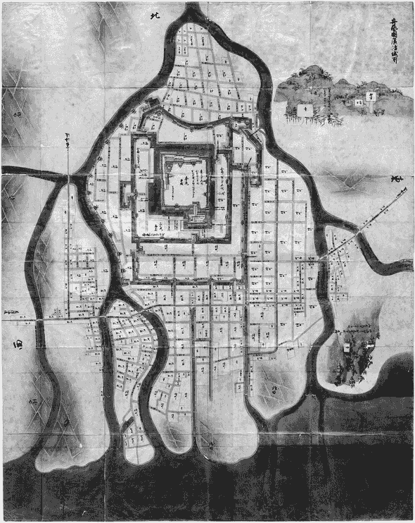 図1.1.1: 正保城絵図『広島城』