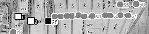 図 3.4.1.2: 弘前城の東にある直線道路
