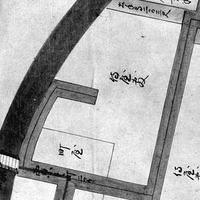 図 3.4.1.5: 正保時点の盛岡城下で唯一の袋小路