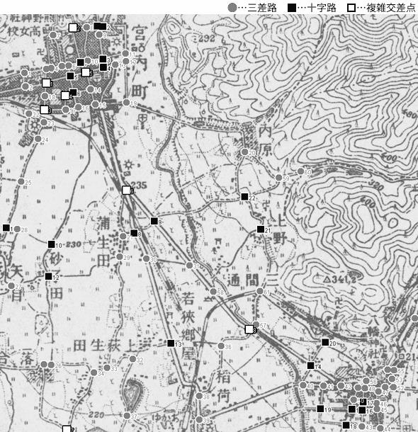 図 3.4.1.13: 赤湯町-宮内町(現・山形県南陽市)