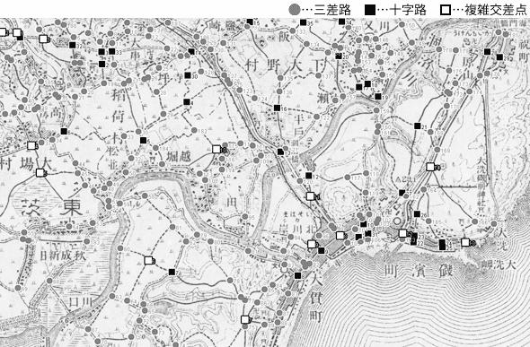 図 3.4.2.2: 大貫町と磯浜町(現・茨城県大洗町)