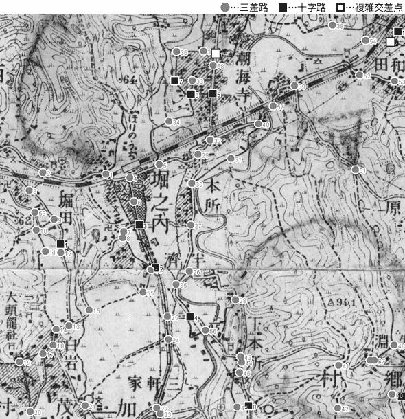 図 3.4.3.9: 西方村(現・静岡県菊川市)