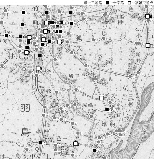 図 3.4.3.11: 竹ヶ鼻町(現・岐阜県羽島市)