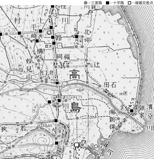 図 3.4.4.2: 今津町(現・滋賀県高島市)