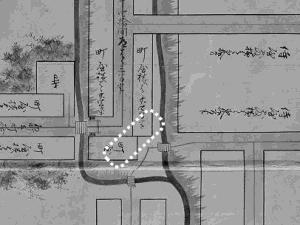 図 3.4.4.15: 道を塞いでいる町屋(北西部分)