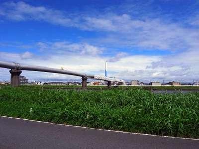 ガス管橋 荒川