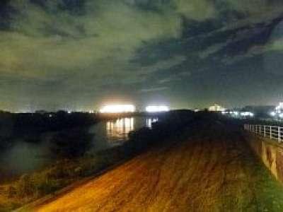 藤代橋(取手市)から見た牛久市方向
