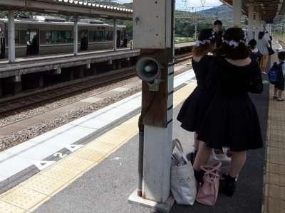 近江塩津駅にて