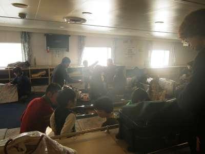 下船前の二等船室