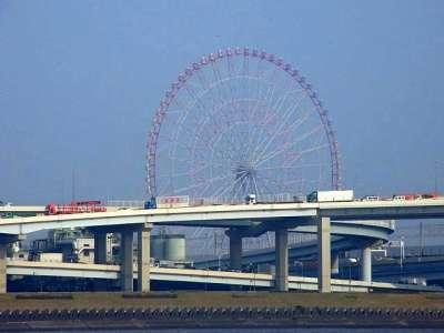葛西臨海公園 観覧車を対岸から眺む