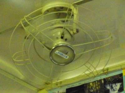 電車の扇風機