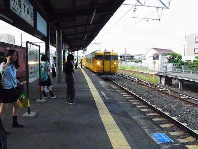 総社駅にて