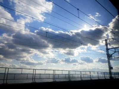 青空。神戸あたり。