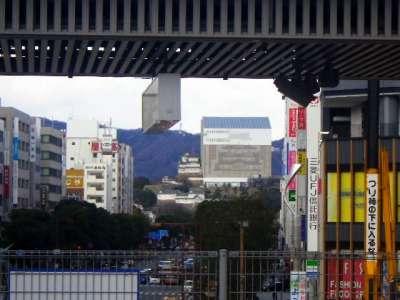 姫路駅ホームから天空の白鷺