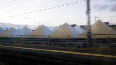 たぶん瀬戸大橋線早島駅の駐輪場の屋根
