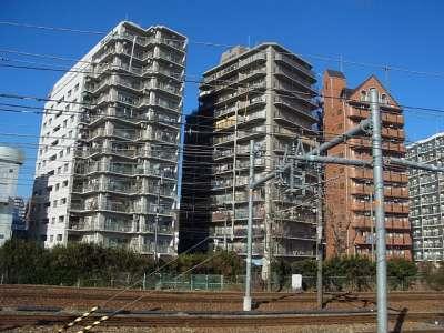 新大阪駅ちかくのアパート・マンション群