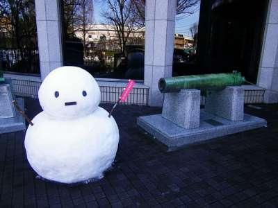 2014 年の大雪 翌日の雪だるま
