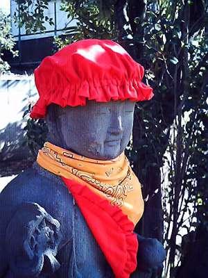 オシャレ地蔵 2008-01-24