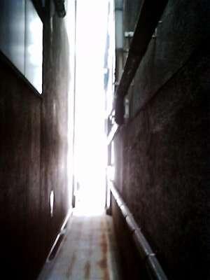 路地に差し込む光