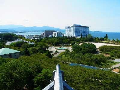 長浜城模擬天守からの眺望 南