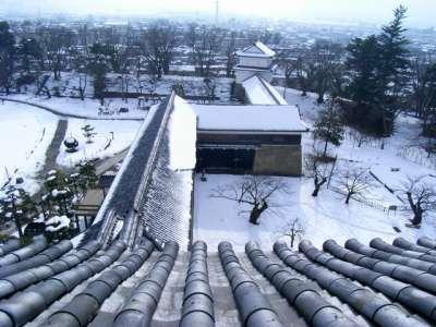 会津若松城 復元天守からの眺望 南南西