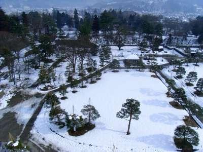 会津若松城 復元天守からの眺望 東南東