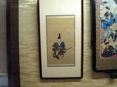 浜松城 家康しかみ像(複製画)