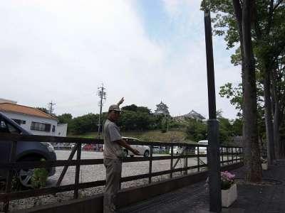 浜松城 あんまり高い丘陵ではない