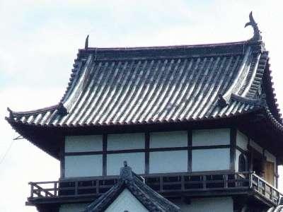犬山城 落雷で欠けた鯱 2017 年 8 月