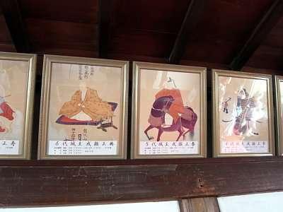 犬山城 天守最上階 歴代天守 2017 年 8 月
