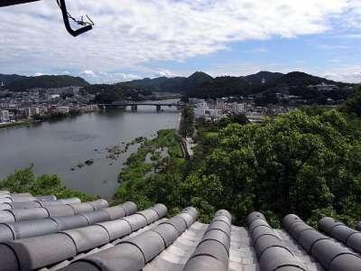 犬山城 天守二階からの木曽川 2017 年 8 月