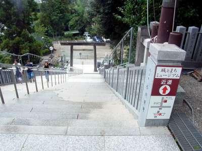 犬山城 針鋼神社から駐車場への近道