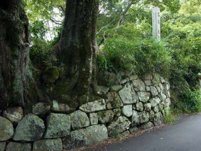 犬山城 名称木曽川の碑 2017 年 8 月