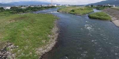 古舟橋から見た千曲川
