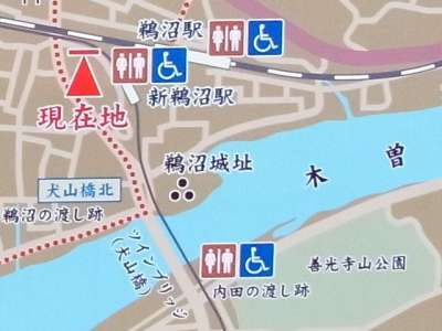 鵜沼城(岐阜県各務原市) 地図