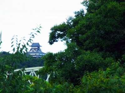 鵜沼城のそばから見る犬山城