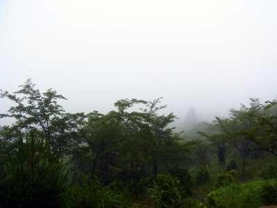 立雲峡第二展望台から竹田城方向