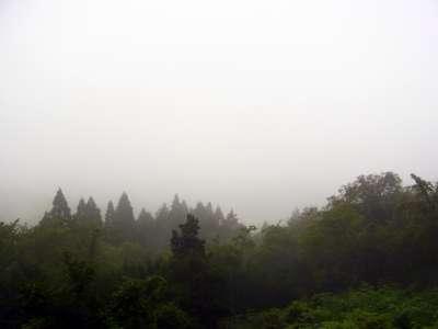 立雲峡第三展望台から竹田城方向