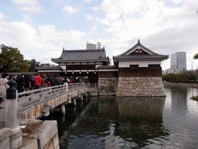 広島城 復元表御門と復元平櫓