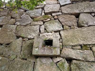 広島城 石垣の排水機構