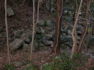 岩国城 北の丸周辺の破却跡
