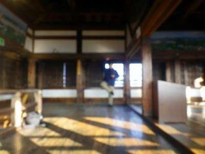 松江城 ピンボケのシェー