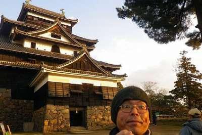 松江城 自撮り