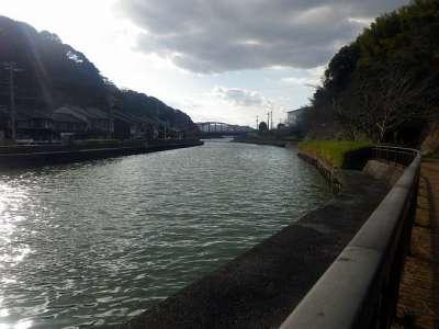 米子城 加茂川